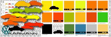 e1 5 se beetle paint colours europe 1970 1979 all the vw