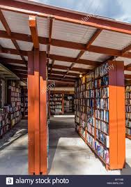 a view of the unusual outside bookshelves at bart u0027s books ojai
