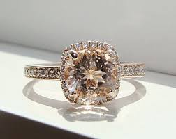 gemstone wedding rings halo morganite diamond ring gemstone engagement ring upgraded