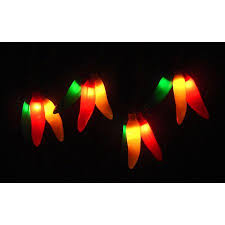 Brown Wire Christmas Lights Set Of 36 Red Yellow U0026 Green Chili Pepper Cluster Christmas