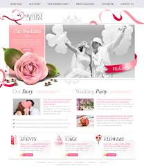 free personal wedding websites the wedding psd website free template psd