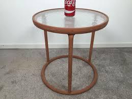 Vintage Brown Jordan Outdoor Furniture by Vintage Brown Jordan Outdoor Round Side Table