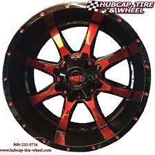 moto metal wheels mo970 black and machined with custom red clear