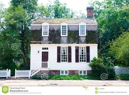 colonial cottage home stock image image 27415801