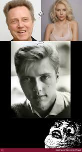 Scarlett Johansson Memes - young christopher walken or scarlett johansson or both by ifreet