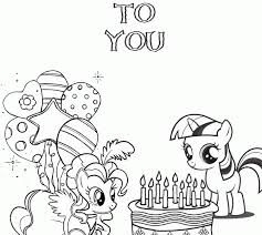 my little pony birthday coloring page my coloring pages com my little pony birthday coloring page h m