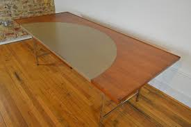 Modern Age Furniture by Edward Wormley For Dunbar Mid Century Modern Executive Leather Top