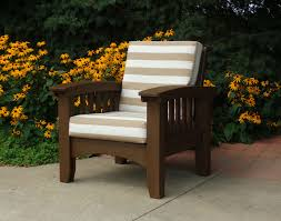cypress mission chair w sunbrella cushions