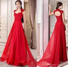 2016 formal red evening gown corset chiffon long full length lace