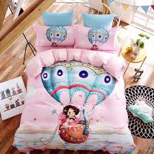 girls pink bedding sets flowers sit in air balloon pink bedding sets egyptian