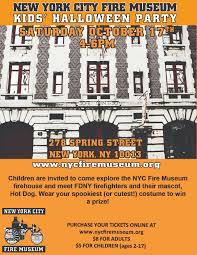 upcoming events nyc fire museum kids u0027 halloween party nyc