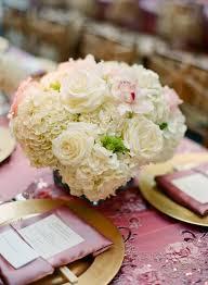 Hydrangea Centerpiece Cream Rose And Hydrangea Centerpiece Elizabeth Anne Designs The