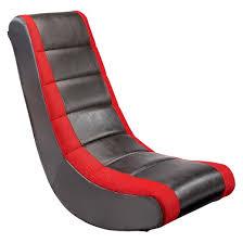 video rocker gaming chair black red crew furniture target