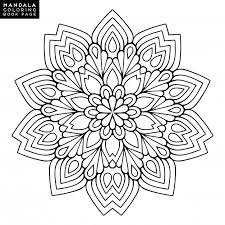 outline mandala coloring book decorative ornament anti