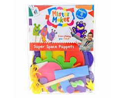 mister maker super space puppet kit kids craft gift set