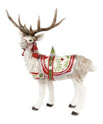 white winter deer figurine fitz and floyd decor
