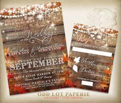 Rustic Wedding Invites Rustic Wedding Invitation Fall Wedding Invite Country Wedding
