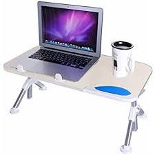 amazon com dinger adjustable laptop table desk portable