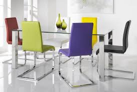 steel dining table set colorful dining chairs with glass and stainless steel dining tables