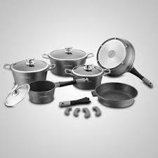 batterie de cuisine en batterie de cuisine de 14 pièces en marbre 9