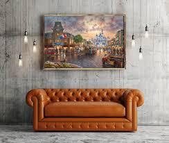 Thomas Kincaid Bedroom Furniture Aliexpress Com Buy H1394 Thomas Kinkade City Streets Scenery Hd