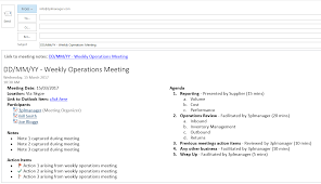 weekly logistics list 5 habits for effectively managing meetings