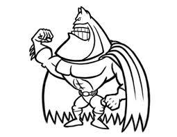 batman cartoon character drawing
