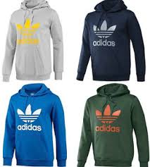 new adidas trefoil hoodie hooded sweatshirt men sizes small