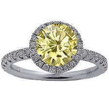 canary engagement ring canary ebay