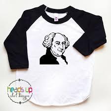 Thanksgiving Shirts For Toddler Boy John Adams Kids Tshirt Raglan Boy American History