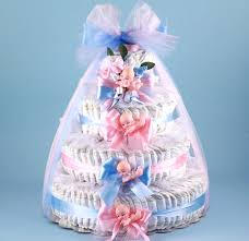 pink u0026 blue baby shower diaper cake at best prices
