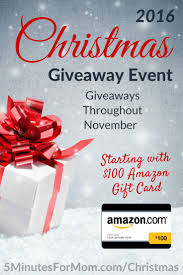 christmas giveaway event 2016 starting with 100 amazon gift card