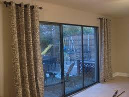 durable sliding glass door coverings in elegant look