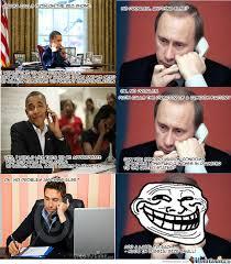 Obama Putin Meme - 16 best putin vs obama jokes daily pastime part 2 funny