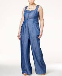 plus size denim jumpsuit roy curvy plus size denim wide leg jumpsuit