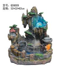 home decor water fountains top tier tabletop desk indoor rock