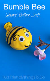 a bumble bee balloon fidget sensory craft for kids