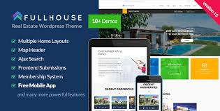 download fullhouse real estate wordpress theme by themeforest