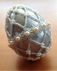 Decorating Easter Eggs With Beads by 89 Best Beaded Eggs Images On Pinterest Beaded Ornaments Egg