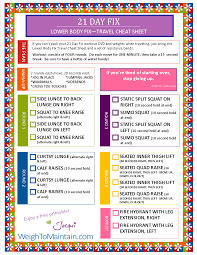 21 day fix workout printable lower body fix pdf