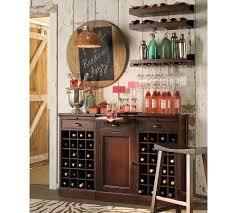 Modular Bar Cabinet Modular Open Wine Buffet Finished In Mahogany