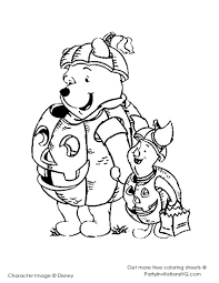 winnie the pooh halloween coloring pages u2013 festival collections
