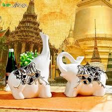 buy ceramic elephant ornaments lucky lucky elephant animal crafts