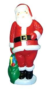 outdoor plastic lighted santa claus outdoor lighted santa claus new blow mold yard decor 5 ft plastic