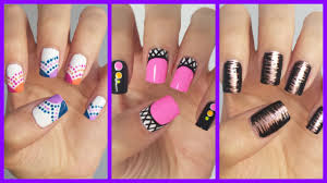 nail art easy stripe nail art tutorial tutorials for short nails