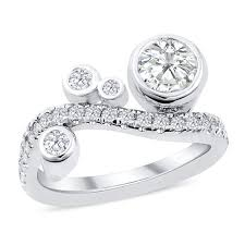 bezel ring 18k white gold bezel set diamond ring michael diamond designs