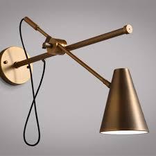 swivel arm wall light modern style bronze wall l scandinavian interior hong kong design