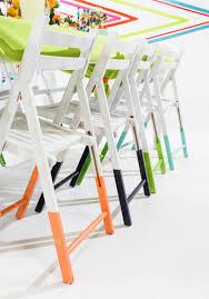 Stylish Folding Chairs 10 Ways To Update Folding Chairs Brit Co