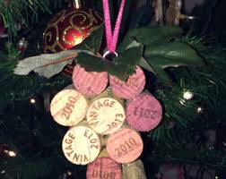wine cork ornament etsy