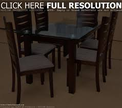 Wooden Dining Table Designs With Glass Top Glass Top Dining Tables With Wood Base Home Design Ideas